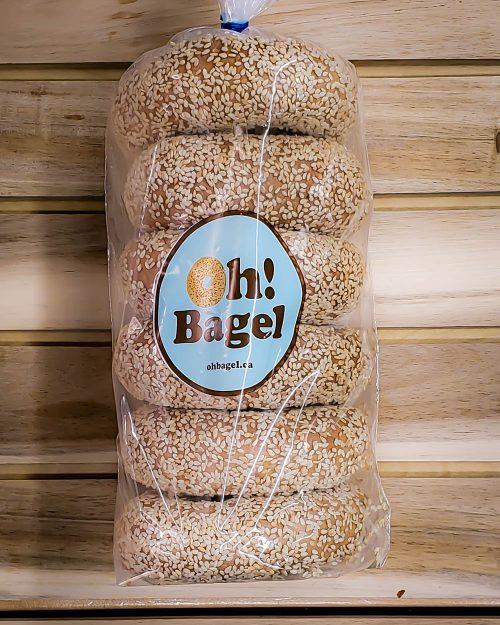 OhBagel Sesame Bagel 6 pack